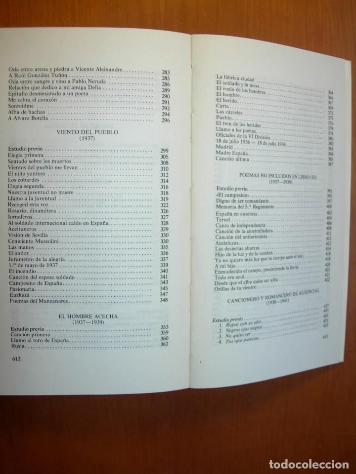 Libros: OBRA POÉTICA COMPLETA / MIGUEL HERNANDEZ - Foto 7 - 227755555