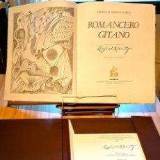 Libros: (SIGNED) ROMANCERO GITANO. LORCA 19 LITOGRAFÍAS Y PORTAFOLIO 10 LITOGRAFÍAS RAFAEL ALBERTI (2 OBRAS). Lote 228467620