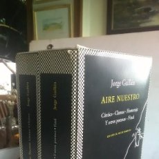 Libros: JORGE GUILLÉN. AIRE NUESTRO. TUSQUETS EDITORES. PRIMERA EDICIÓN. 2010. Lote 232149240