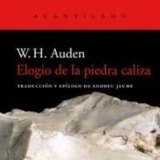 Libros: ELOGIO DE LA PIEDRA CALIZA. Lote 234677340