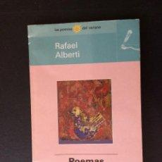 Libros: LIBRO POEMAS ESCOGIDOS, DE RAFAEL ALBERTI. Lote 239723080
