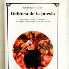 Libros: SIDNEY: DEFENSA DE LA POESÍA. Lote 239979200