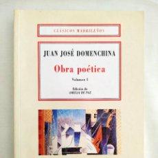 Libros: DOMENCHINA: OBRA POÉTICA I - NUEVO. Lote 240069080