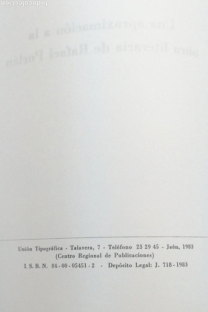 Libros: RAFAEL PORLÁN. POESIA Y PROSA. Manuel Urbano - Foto 4 - 241007490