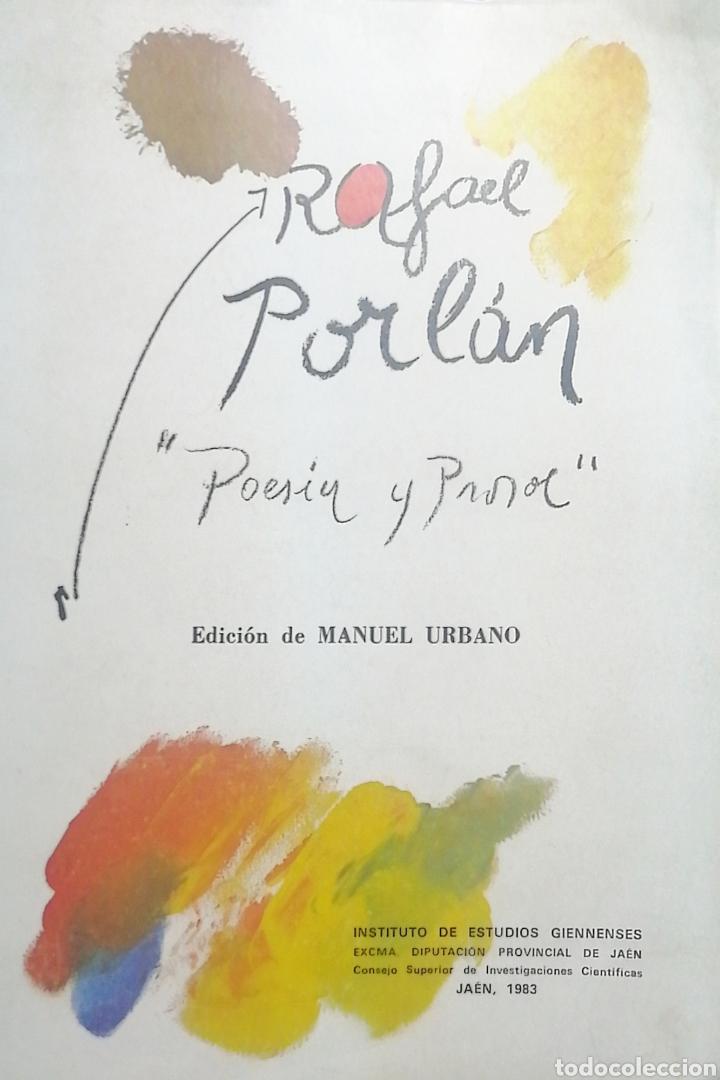 RAFAEL PORLÁN. POESIA Y PROSA. MANUEL URBANO (Libros Nuevos - Literatura - Poesía)