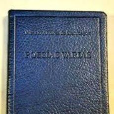 Libros: POESÍAS VARIAS ÁLVAREZ DE CIENFUEGOS, NICASIO. Lote 243577645