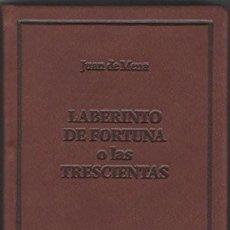 Libros: LABERINTO DE FORTUNA O LAS TRESCIENTAS DE JUAN DE MENA. Lote 243579705