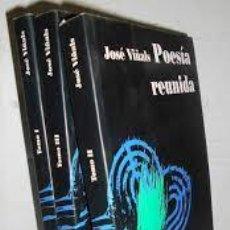 Libros: POESÍA REUNIDA. 3 TOMOS. JOSÉ VIÑALS. Lote 245088415