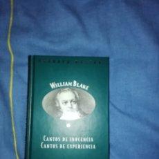 Libros: CANTOS DE INOCIENCIA, CANTOS DE EXPERIENCIA WILLIAM BLAKE. Lote 246552870