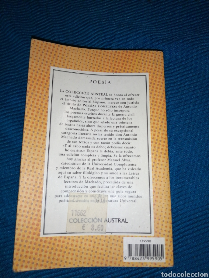 Libros: LIBRO POESÍAS COMPLETAS DE ANTONIO MACHADO. - Foto 2 - 246983425