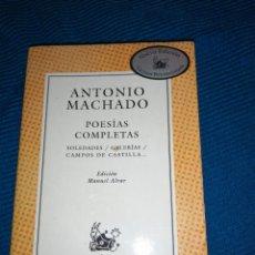 Libros: LIBRO POESÍAS COMPLETAS DE ANTONIO MACHADO.. Lote 246983425