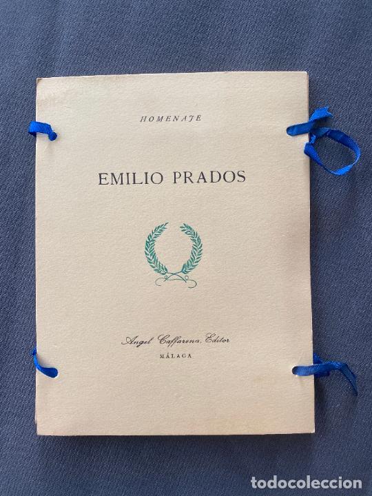 HOMENAJE EMILIO PRADOS , ANGEL CAFFARENA , EDITOR , MÁLAGA , ED. LIMITADA , 1964 . POESIA (Libros Nuevos - Literatura - Poesía)