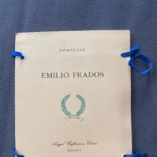 Libros: HOMENAJE EMILIO PRADOS , ANGEL CAFFARENA , EDITOR , MÁLAGA , ED. LIMITADA , 1964 . POESIA. Lote 251808830