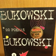 Libros: BUKOWSKI. 20 POEMAS. MONDADORI. Lote 254705615