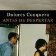Libros: ANTES DE DESPERTAR. Lote 254899960
