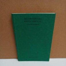 Libros: ROBERTO JUARROZ - DECIMOTERCERA POESÍA VERTICAL. Lote 254949555