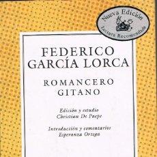 Libros: ROMANCERO GITANO -- FEDERICO GARCIA LORCA. Lote 254992210