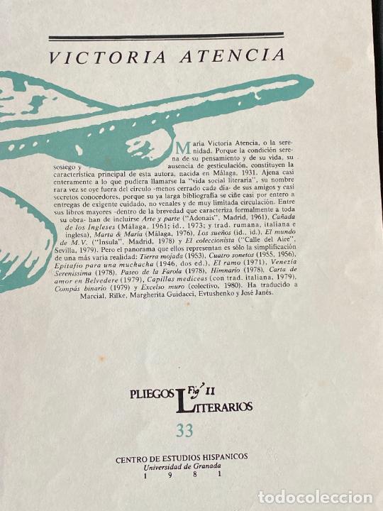 Libros: MARIA VICTORIA ATENCIA Y RAFAEL LEON , MÁLAGA , DEDICATORIA MANUSCRITA , - Foto 4 - 257623685