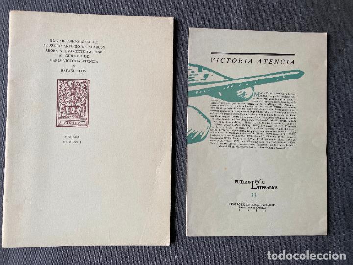 MARIA VICTORIA ATENCIA Y RAFAEL LEON , MÁLAGA , DEDICATORIA MANUSCRITA , (Libros Nuevos - Literatura - Poesía)
