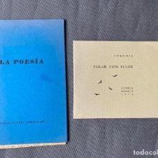 Libros: EUGENIA E IVAR Y ASTRID IVASK , POESIA , MALAGA 1976 , MEXICO 1976 . DEDICADO. Lote 257628335