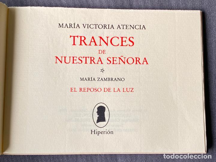 Libros: MARIA VICTORIA ATENCIA , TRANCES DE NUESTRA SEÑORA , POESIA , 1986 , DEDICATORIA MANUSCRITA - Foto 3 - 257633155