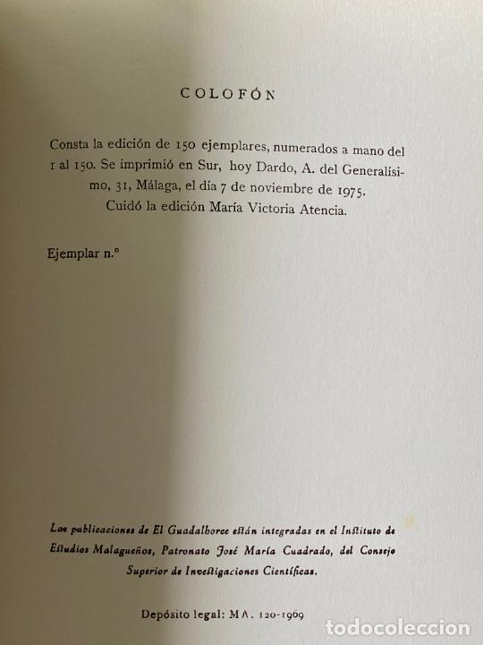 Libros: RAFAEL LEON , MARIA VICTORIA ATENCIA , POESIA MALAGUEÑA CONTEMPORANEA , LOTE DE 3 LIBROS - Foto 11 - 257635870