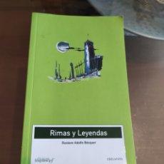 Libros: RIMAS Y LEYENDAS DE BÉCQUER. Lote 262166110