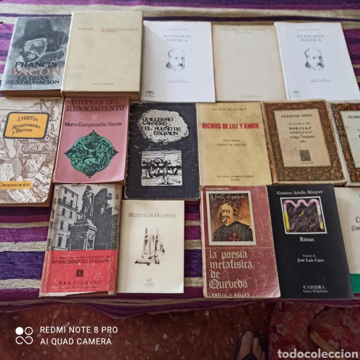 POESÍA, LOTE 16 UNIDADES, QUEVEDO, GÓNGORA, SA JUAN DE LA CRUZ.... (Libros Nuevos - Literatura - Poesía)