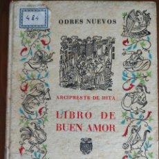 Libros: LIBRO DE BUEN AMOR. Lote 270603598