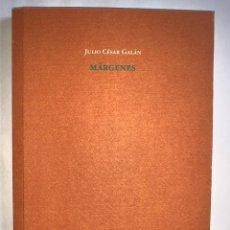 Libros: MÁRGENES. JULIO CÉSAR GALÁN. ED. PRE-TEXTOS. PREMIO 'VILLA DE COX' 2011. Lote 270632593