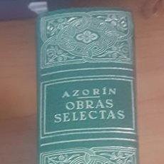 Libros: AZORIN OBRAS SELECTAS -TAPAS PIEL EDITORIAL - MADRID 1969 4ª EDICION- OFERTA LIQUIDACION. Lote 275147048
