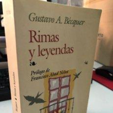 Libros: EDAF - RIMAS Y LEYENDAS GUSTAVO ADOLFO BÉCQUER. Lote 276823088