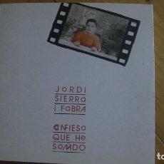 Libros: CONFIESO QUE HE SOÑADO. JORDI SIERRA I FABRA. EDICOMUNICACION 1987 PRIMERA EDICIÓN. Lote 277004743