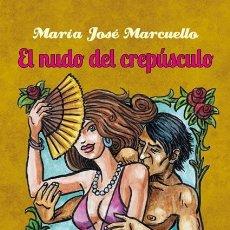 Libros: EL NUDO DEL CREPÚSCULO. POESÍA ERÓTICA POR MARÍA JOSÉ MARCUELLO. ILUSTRA DIONISIO PLATEL. TAULA 2021. Lote 278346433
