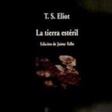 Libros: TIERRA ESTERIL V-699. Lote 287705888
