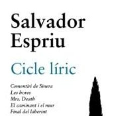 Libros: CICLE LÍRIC.. Lote 289211588