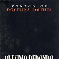 Libros: ONÉSIMO REDONDO, TEXTOS DE DOCTRINA POLÍTICA (OBRAS COMPLETAS) 2 TOMOS GASTOS ENVIO GRATIS FALANGE. Lote 256045495