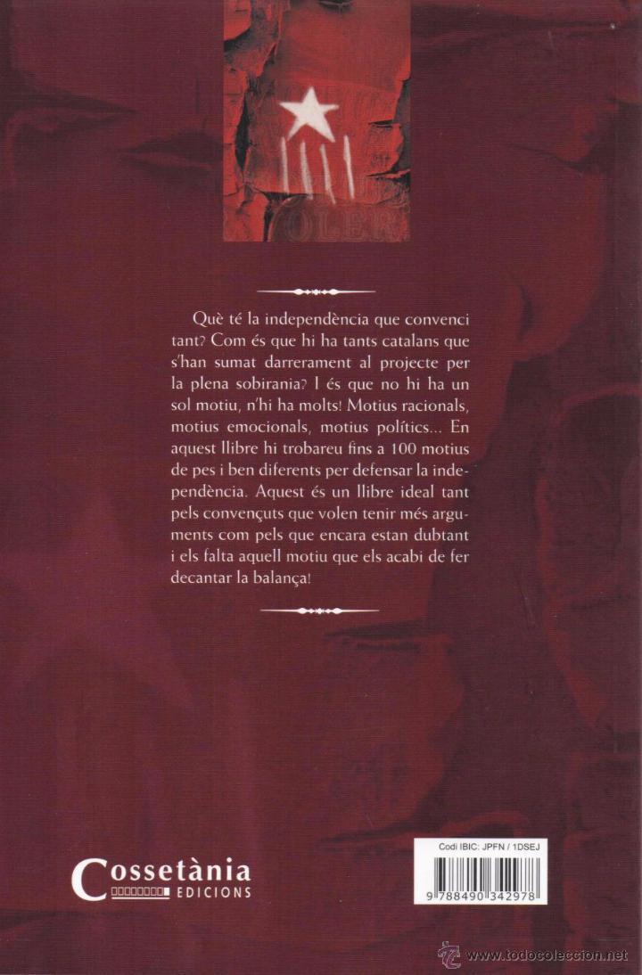 Libros: 100 MOTIUS PER SER INDEPENDENTISTA de ROGER BUCH - COSSETANIA EDICIONS, 2015 (NUEVO) - Foto 2 - 48347900