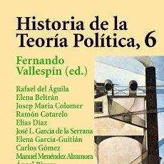 Libros: HISTORIA DE LA TEORÍA POLÍTICA, 6 ED. ALIANZA. Lote 103765763