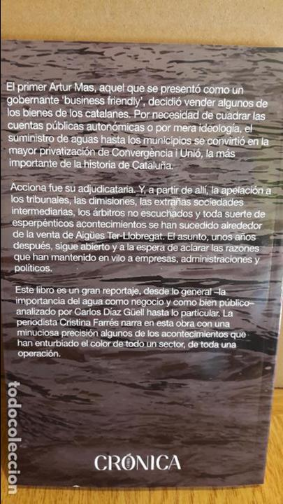 Libros: AGUAS TURBIAS / CRISTINA FARRÉS - CARLOS DÍAZ / ED - CRONICA GLOBAL - 2016 / NUEVO. - Foto 2 - 114095675