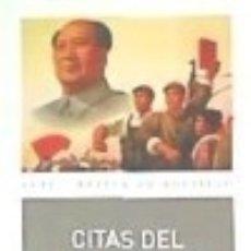Libros: CITAS DEL PRESIDENTE MAO TSE-TUNG . EL LIBRO ROJO. Lote 109436182