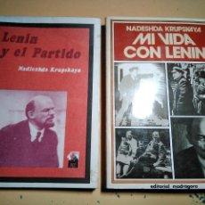 Livros: RECUERDOS DE LENIN POR SU ESPOSA N. KRUPSKAYA. Lote 126721763