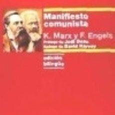 Libros: MANIFIESTO COMUNISTA: EDICIÓN BILINGÜE. Lote 138746848