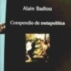 Libros: COMPENDIO DE METAPOLÍTICA. Lote 141041680