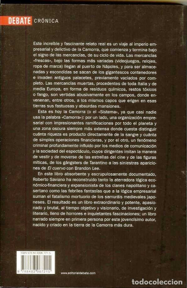 Libros: GOMORRA. El imperio económico y el poder de la Camorra de Roberto Saviano - Foto 2 - 147173334