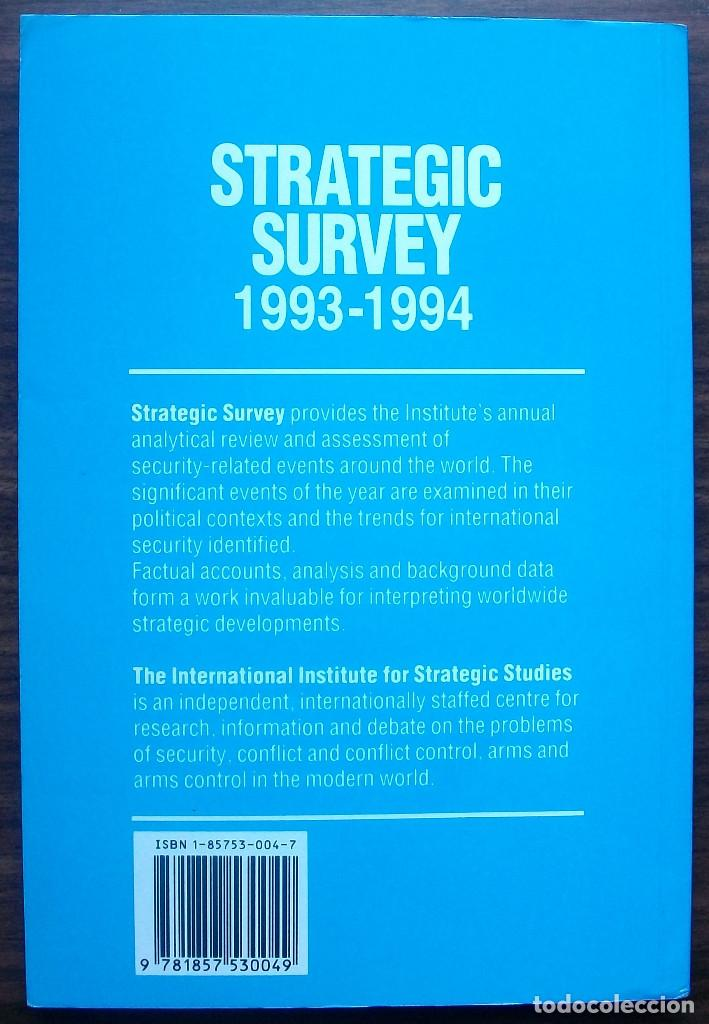 Libros: STRATEGIC SURVEY 1993-1994. PUBLISHED BY BRASSEYS FOR THE IISS - Foto 2 - 147683302