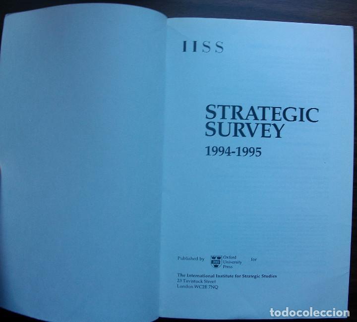 Libros: STRATEGIC SURVEY 1994/95. PUBLISHED BY OXFORD UNIVERSITY PRESS - Foto 2 - 147683574