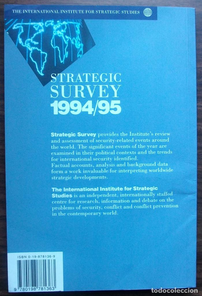 Libros: STRATEGIC SURVEY 1994/95. PUBLISHED BY OXFORD UNIVERSITY PRESS - Foto 3 - 147683574