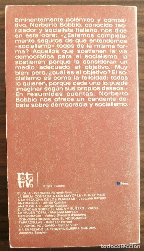 Libros: ¿QUE SOCIALISMO? NORBERTO BOBBIO - Foto 2 - 150570802