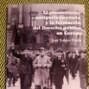Libros: EL PENSAMIENTO ANTIPARLAMENTARIO Y LA FORMACIÓN DEL DERECHO PÚBLICO EN EUROPA. Lote 158649558